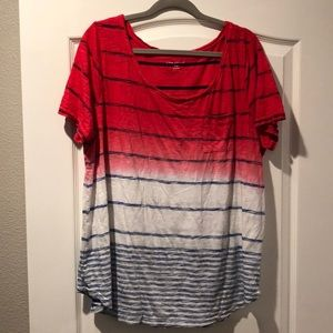 Lane Bryant red white and blue top 18/20